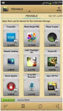 переместить приложения на карту памяти андроид