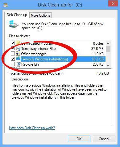 Windows old как удалить на виндовс 7
