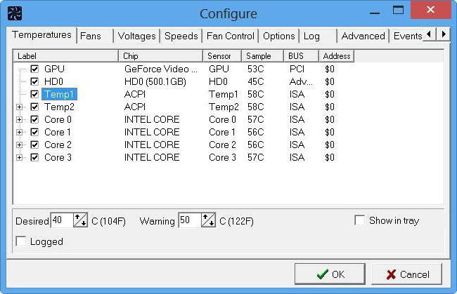 Программа для управления кулерами в компьютере