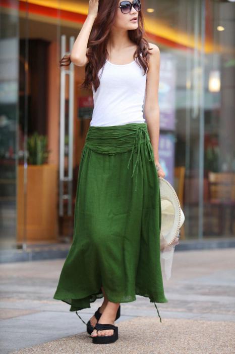 Расклешенная юбка с завышенной талией