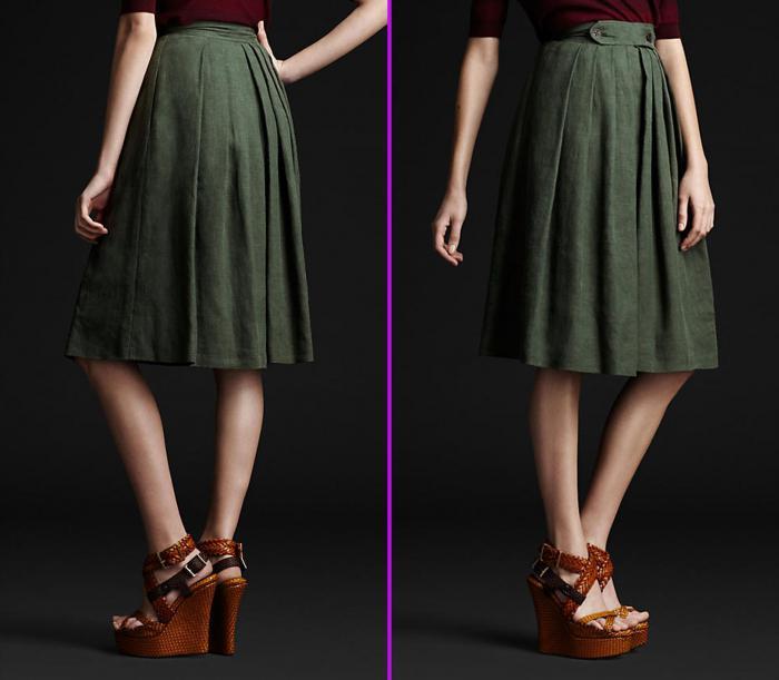 летние юбки из льна
