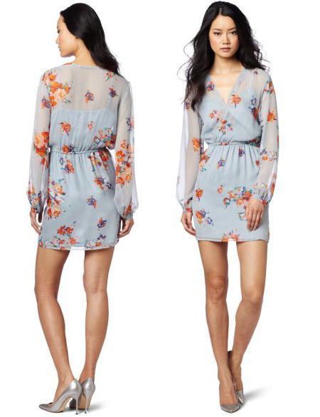 Оригинальные короткие рукава платья