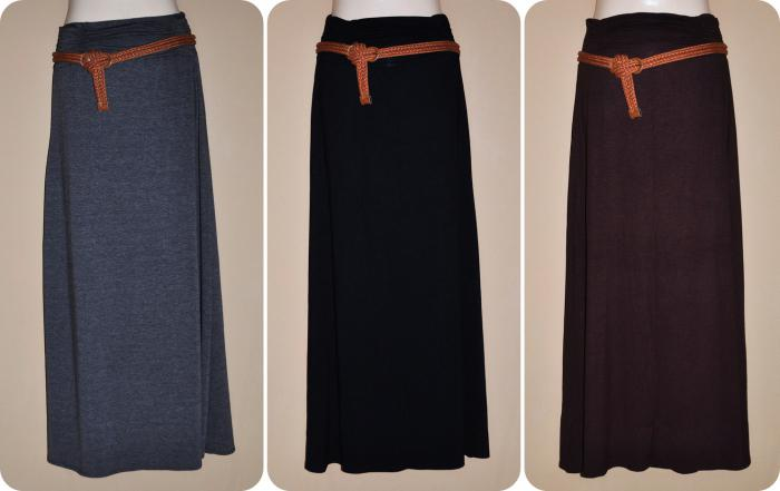 Летняя юбка из трикотажа своими руками