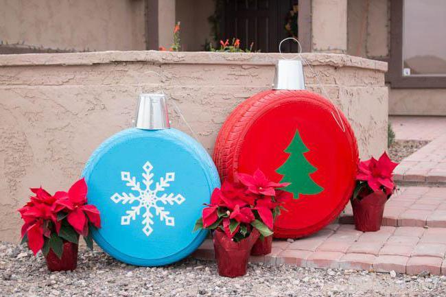 новогодние уличные украшения своими руками из картона