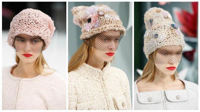 шапка с ушками и вуалью