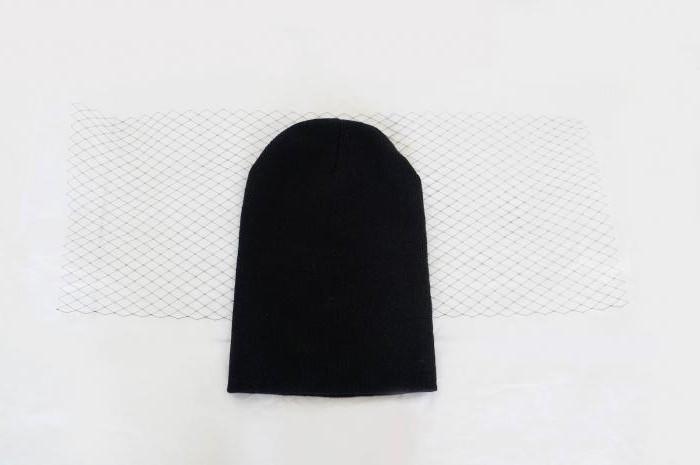 шапка с вуалью своими руками