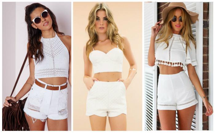 Картинки по запросу белые шорты с высокой талией
