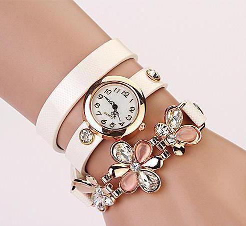 часы с кожаным ремешком женские