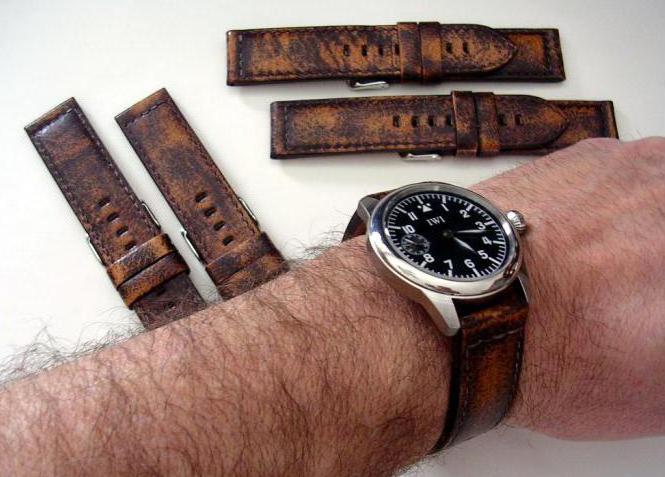 часы с кожаным ремешком мужские