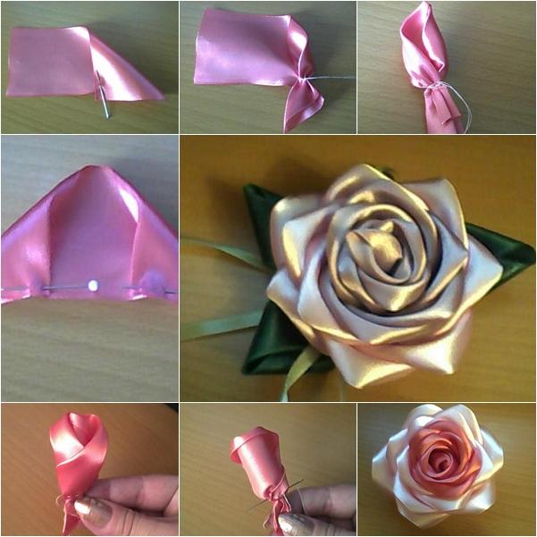 ободок розы ленты