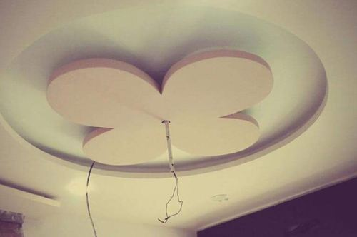 show plasterboard ceilings in the form of a flower