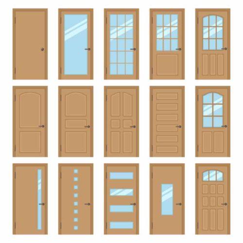 types of metal doors
