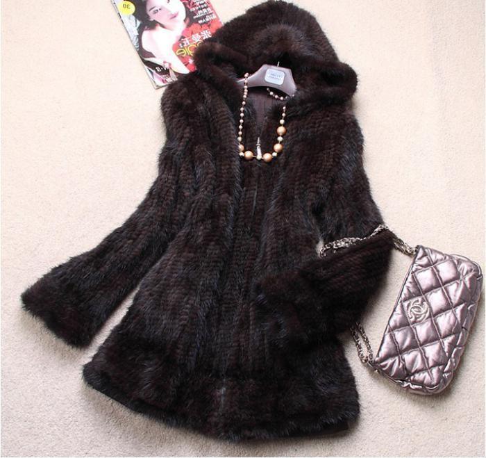 жилет из вязаной норки палантин