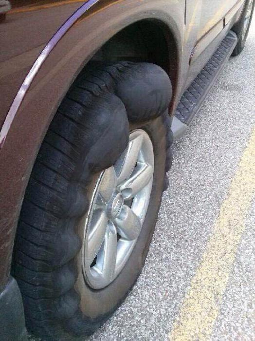 как убрать грыжу с колеса