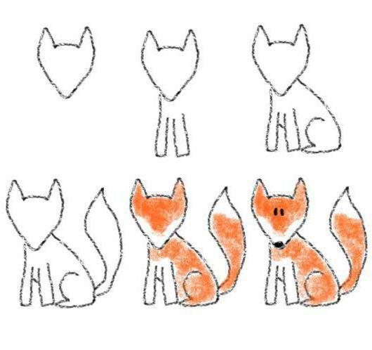 как нарисовать лису карандашом поэтапно для начинающих