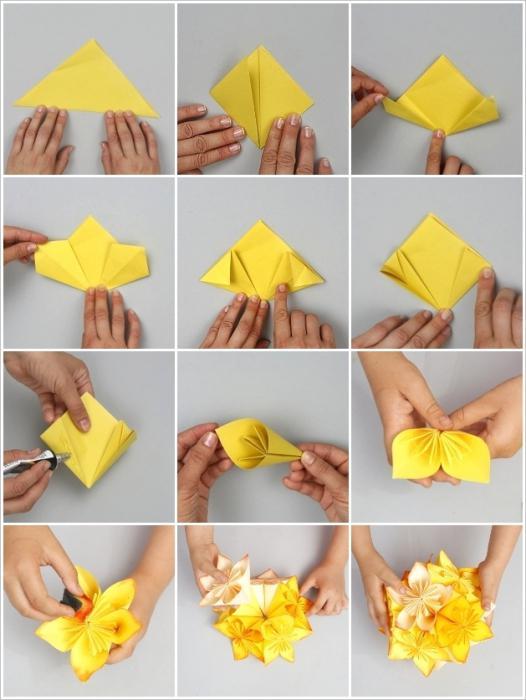 Как сделать шарики из картона своими руками
