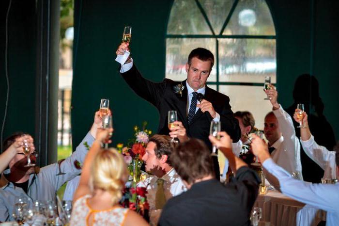 Как говорить тосты на свадьбе