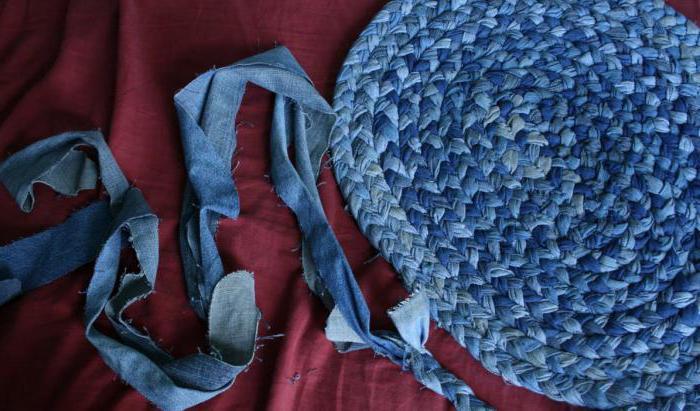 коврик из старых джинсов мастер класс
