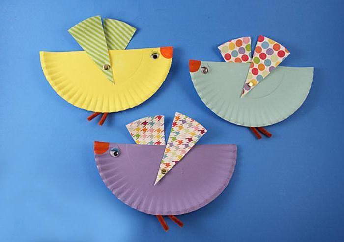 Бумажные птицы своими руками