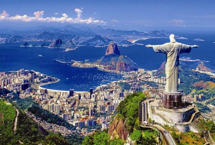 на каком материке расположена страна бразилия достопримечательности