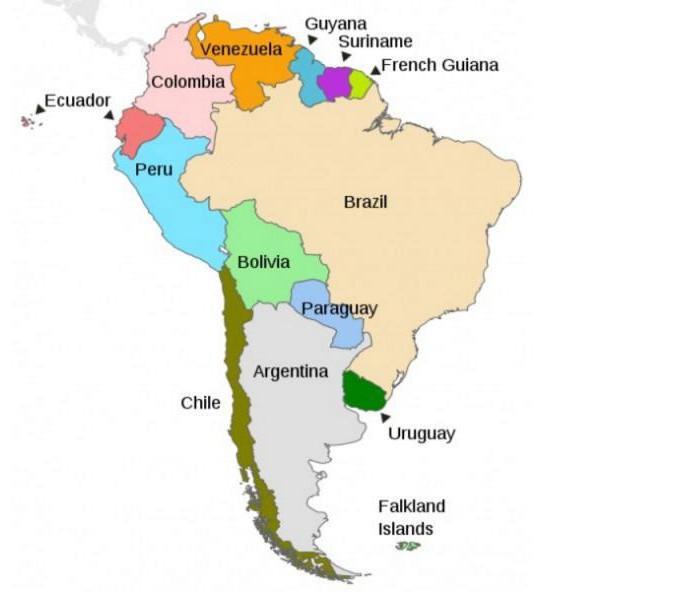на каком материке расположена страна бразилия