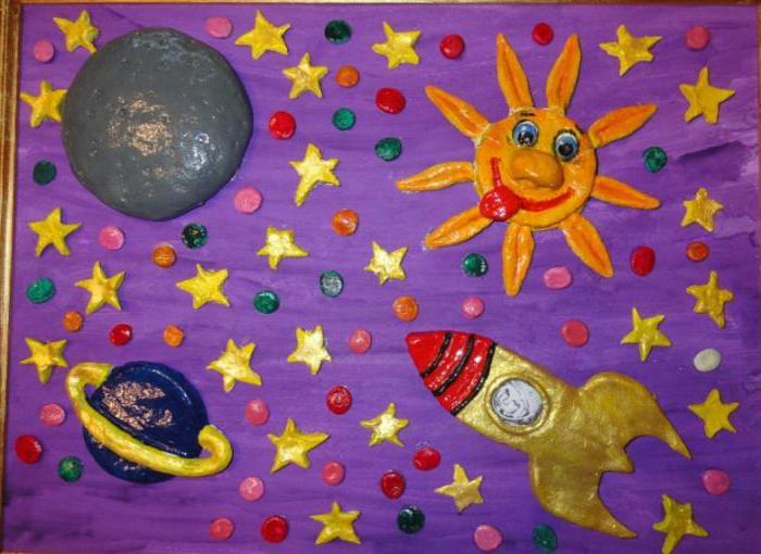 поделка ко дню космонавтики в детский сад