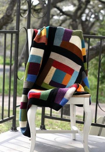 вязание ковриков из остатков пряжи