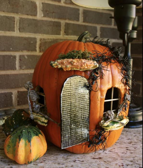 домик из тыквы