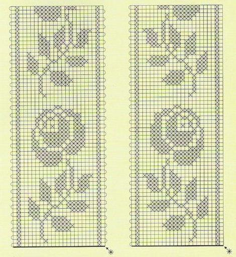 вязанные скатерти со схемами крючком