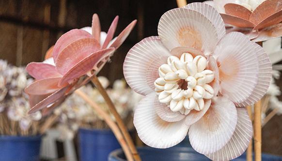 поделки из ракушек своими руками мастер класс цветы
