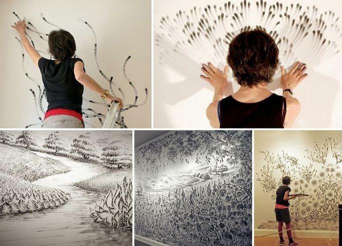 рисунок на стенах своими руками