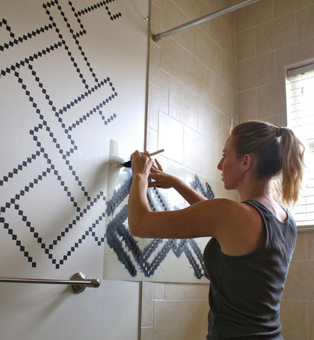 рисуем на стене своими руками по трафарету
