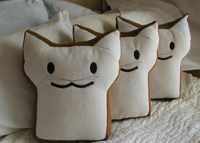 выкройки кофейных котов из ткани
