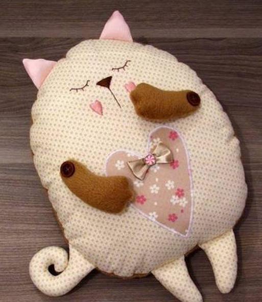выкройки игрушек котов из ткани как сделать своими руками