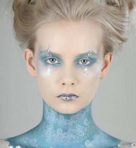 макияж для снежной принцессы