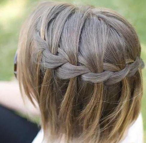 как заплести саму себя на короткие волосы