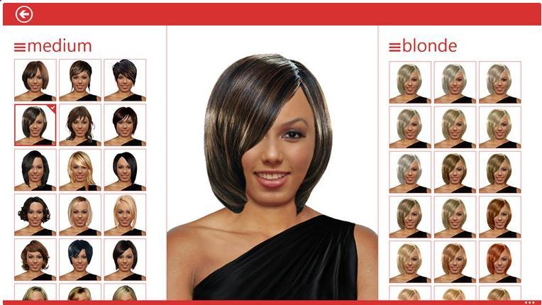 Пример выбора женской стрижки и цвета волос
