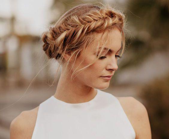 Коса-корона или обруч на длинные волосы
