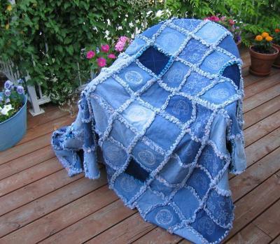 что можно сделать из старых джинс одеяло из джинсов