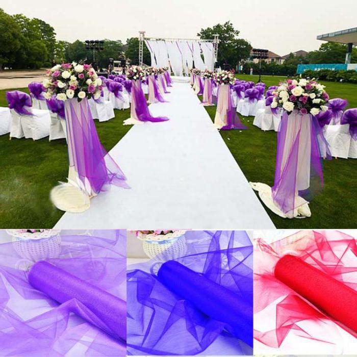 какие ткани оформления свадьбы?