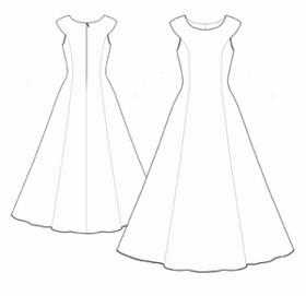 вечерние платья в пол выкройки