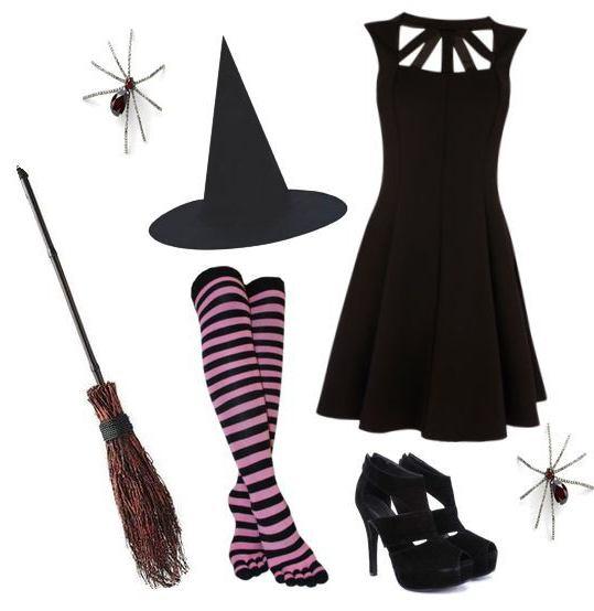 костюм ведьмы на Хэллоуин для девочек