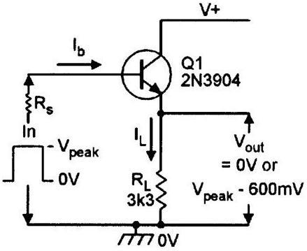 схема включения биполярного транзистора с общим коллектором