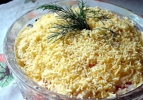 салат белочка рецепт с плавленным сыром рецепт