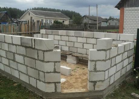 Строим гараж своими руками из газобетона видео