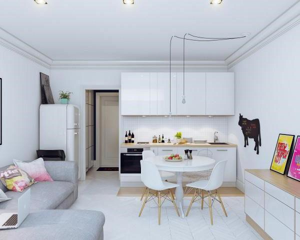 дизайн малогабаритной однокомнатной квартиры 30 кв м