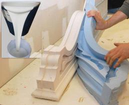 силиконовые формы для заливки гипса