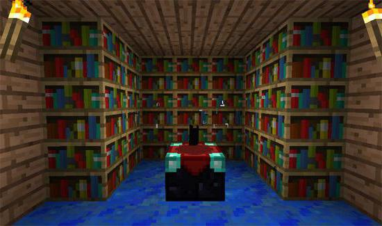 как скрафтить книжные полки