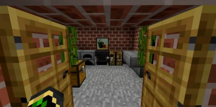 как сделать потайную комнату в майнкрафт