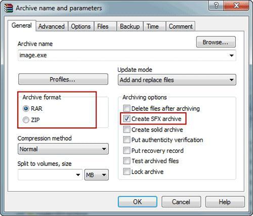 как архивировать файлы для отправки по почте